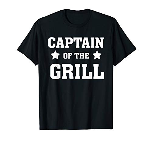 Captain of the grill - Cook - Dad Grilling Out Smoker T-Shirt