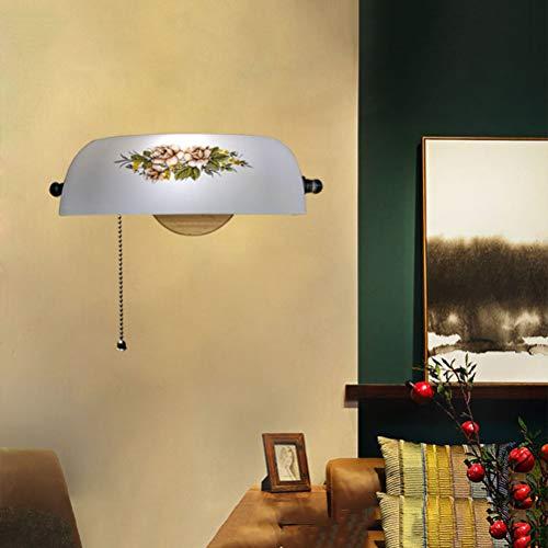 Lámpara de banqueros Lámpara de pared banco de verde con interruptor de cadena Luz de lectura de pared Lámpara de mesa biblioteca Lámpara de salón vintage de los años 20 Lámpara de noche dormitorio