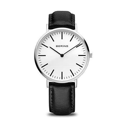 BERING Reloj Analógico para Hombre de Cuarzo con Correa en Cuero 13738-404
