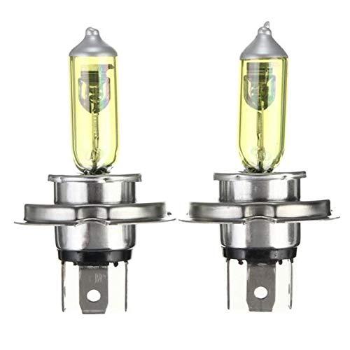 OYWNF Ein Paar H4 DC12V für HID Xenon Glühbirnenlampen gelb 3000k