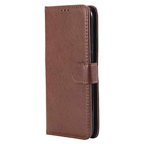 Bear Village® Hülle für Samsung Galaxy J7 DUO, Flip Leder Handyhülle Tasche mit Kartensfach, TPU Innere Ledertasche, 360 Grad Voll Schutz, Braun