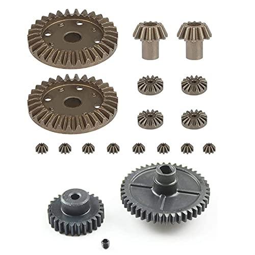 Farleshop 1SET para W-L-T-O-Y-S 144001 1/14 RC Repuestos de automóviles Actualización Metal Motor Reducción Equipo diferencial