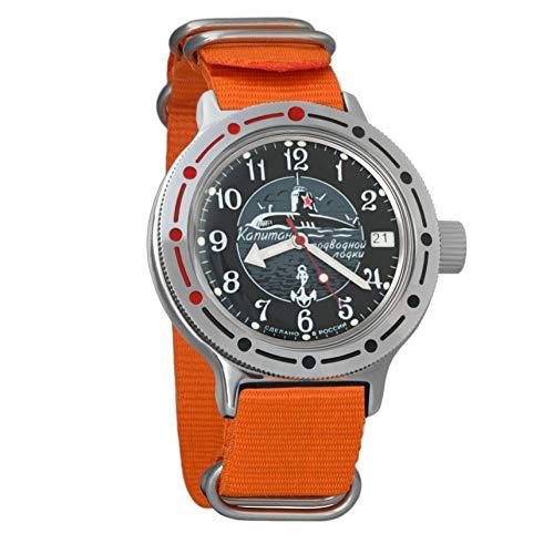 Vostok Amphibian Orologio da polso automatico da uomo, a carica automatica, orologio da polso militare subacqueo anfibio #420831 Sugarpine Air Mesh - Donna