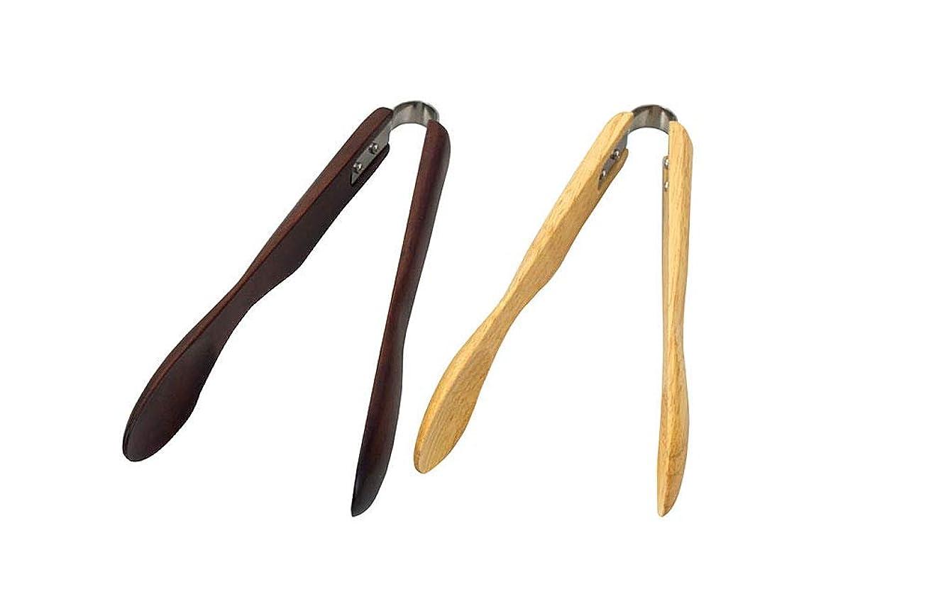 アジャ雇う簡単にヤマコー 木製アームトング S ブラウン 45388