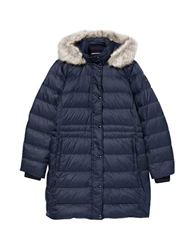 Tommy Hilfiger TH ESS Tyra Down Coat with Fur Chaqueta, Desert Sky, M para Mujer