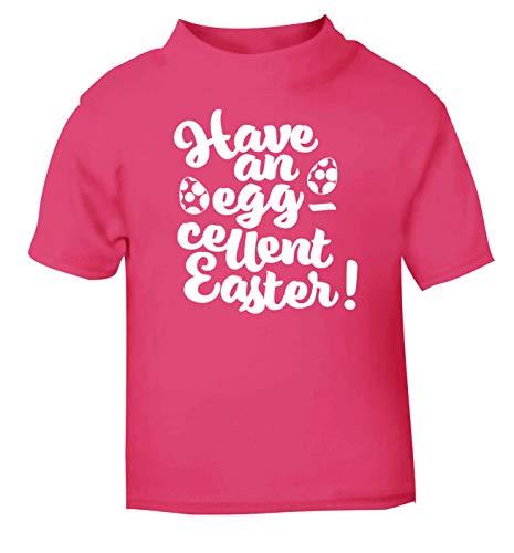 Flox Creative T-Shirt pour bébé Inscription Have an Eggcellent Easter - Rose - 2 Ans