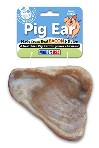 Pet Qwerks Pig Ear with Real Bacon