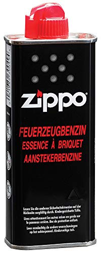 Zippo Men's 3341-15 125 ml (4 oz), Works Windproof Hand Warmer, Fast Ignition, Low Odor, Lighter Fuel Refill, Easy Fill Nozzle, Black