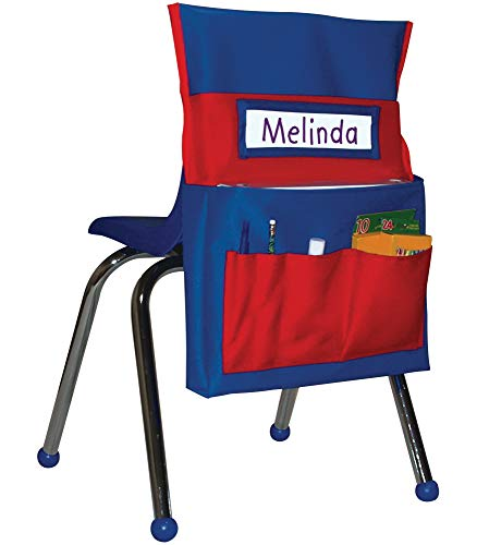 Carson-Dellosa CD-158035 Chairback Buddy Pocket Chart, Blue/Red
