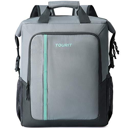 TOURIT Kühlrucksack Grosse Kapazität Kühltasche Isolierter Rucksack für Männer Frauen zum Picknick, Wandern, Camping, Angeln oder Arbeit