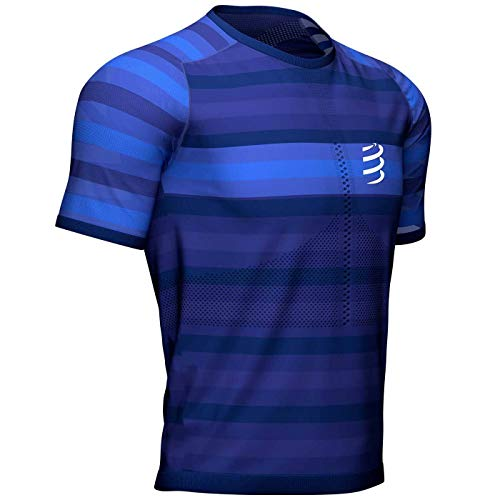 Compressport Racing SS T-Shirt Blauw
