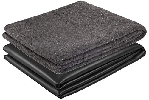 Firestone Teichfolie mit Vlies 300g/m² PondGard EPDM - vulkanisiert schwarz 1 mm - für professionelle Anwendungen - Zuschnitt 7,62 x 6 m