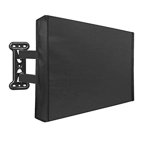"""Mounting Dream Outdoor TV Cover for 48"""" to 50"""" TV with Fully Bottom Cover, Waterproof and Weatherproof TV Screen Protector for Outside TVs with Scratch Resistant Interior and Remote Control Pocket"""
