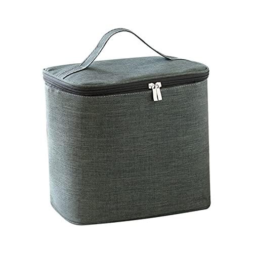 ZYZ Bolsa de Almuerzo para Hombres y Mujeres Bolsas de Almuerzo de Tela Oxford Impermeables Bolsa refrigeradora de Gran Capacidad Bolsa almuerzos de Papel de Aluminio Grueso de Tres Capas