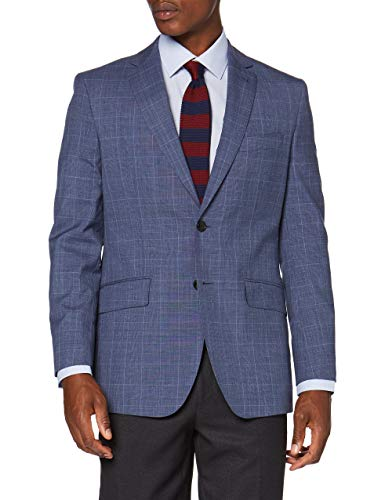 Cortefiel C6I Am Cuadro Gales Tailored Traje, Azul (Azul Claro 17), 56 (Tamaño del Fabricante: 56) para Hombre