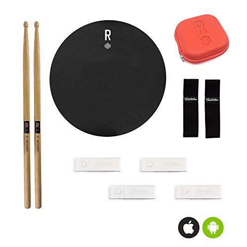 Senstroke by Redison | Ultimate Box mit 2 Sensoren, 2 Drumsticks, 1 Schlagunterlage, 2 Fußklettbandhalterungen, Tasche | zum app-basierten Schlagzeug spielen lernen via Bluetooth…