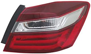 Tail Light - Cooling Direct Fit/For HO2805108 16-17 Honda Accord-Sedan Tail Lamp Assembly Right Hand - Passenger Outer On Body CAPA
