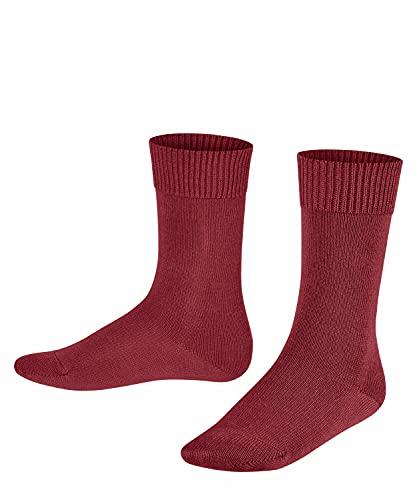 FALKE Unisex Kinder Comfort Wool K SO Socken, Rot (Ruby 8830), 23-26 (2-3 Jahre)