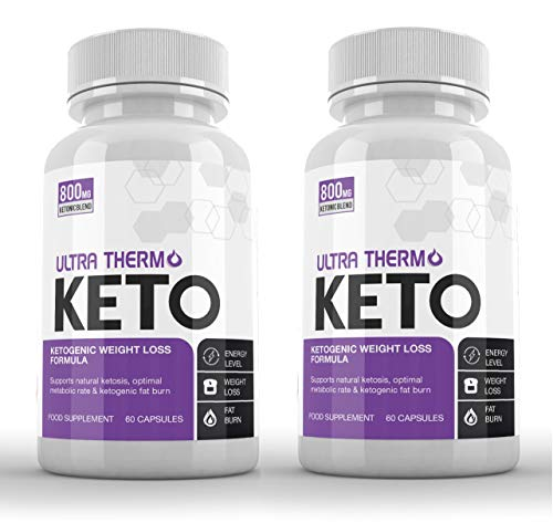 Ultra Thermo Keto (2 x 60 Capsules) KETOGENIC Weight Loss Formula - Keto Capsules for Men & Women - Burn Body Fat & Weight - Keto Diet - Raspberry Ketones Extract-SUPPLEMENT PARADISE