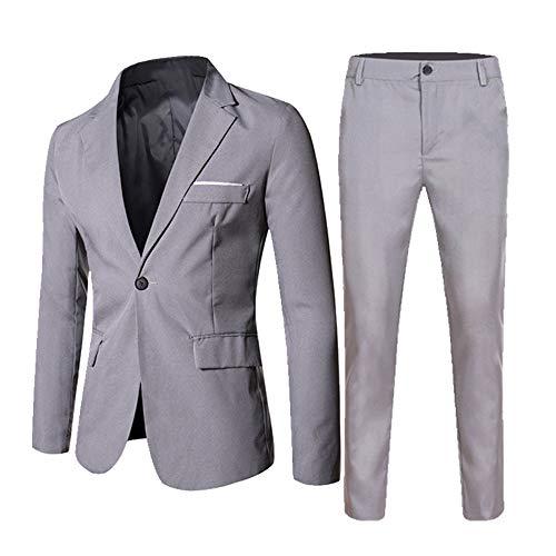 Otoño e Invierno Casual Hombres Trajes De Dos Piezas De Color Sólido Traje Pantalones
