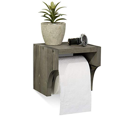Top 10 best selling list for toilet paper holder with wood shelf