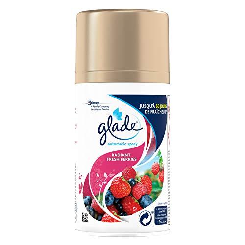 Glade By Brise Recharge pour Diffuseur Automatic Spray, Fraîcheur et Parfum d'Ambiance dans la Maison, 269 ml, Senteur Fruits Rouges