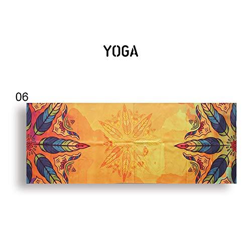 N / A Toalla de Yoga portátil Manta de Yoga Impresa Manta de Yoga Antideslizante Toalla de Microfibra Antideslizante Fitness Deportivo para Pilates Yoga Caliente 183 * 63 cm
