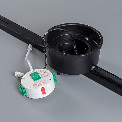 共同照明配線ダクトレールライティングダクトレール(GT-DJ-GDB)ライティングバー1mシーリング用スポットライトおしゃれレール天井照明簡易取付レールライト用レール照明黒