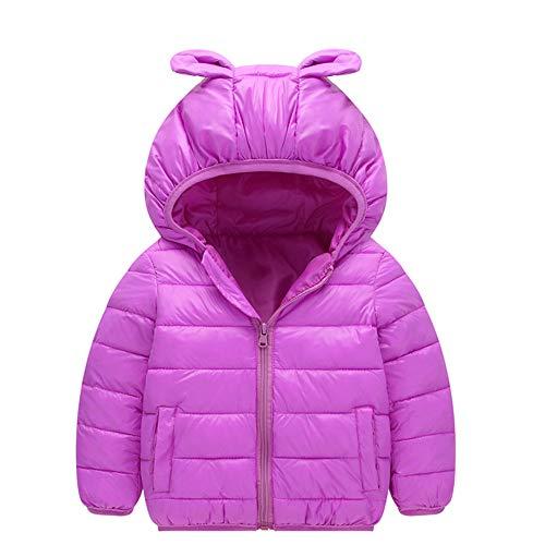 Manteaux bébé, YUYOUG Ultra Light Blouson Manteau Léger Enfant Garçon Fille Doudoune à Capuche - Veste à Manches Longues Sport bébé Ski Vêtement (0-1 Ans, Purple)