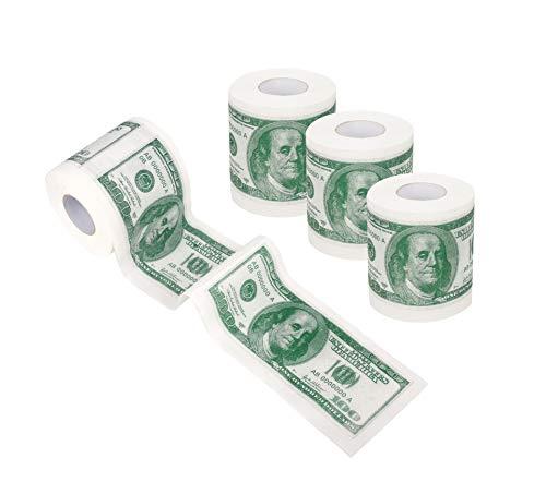 SummitLink 4 Rolls $100 Hundred US Dollar Bill Toilet Paper Tissue Napkin...