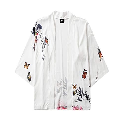 Camiseta para hombre, cárdigan de verano, informal, kimono, chaqueta, suelta, chaqueta de...