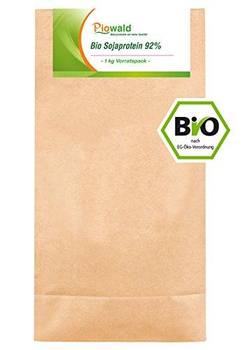 BIO Sojaprotein 92{779adc6f90eb02e7df922f5c0bb2f85021a278238aa148d562c6874622d24172} - 1 kg Vorratspack, Soy Protein