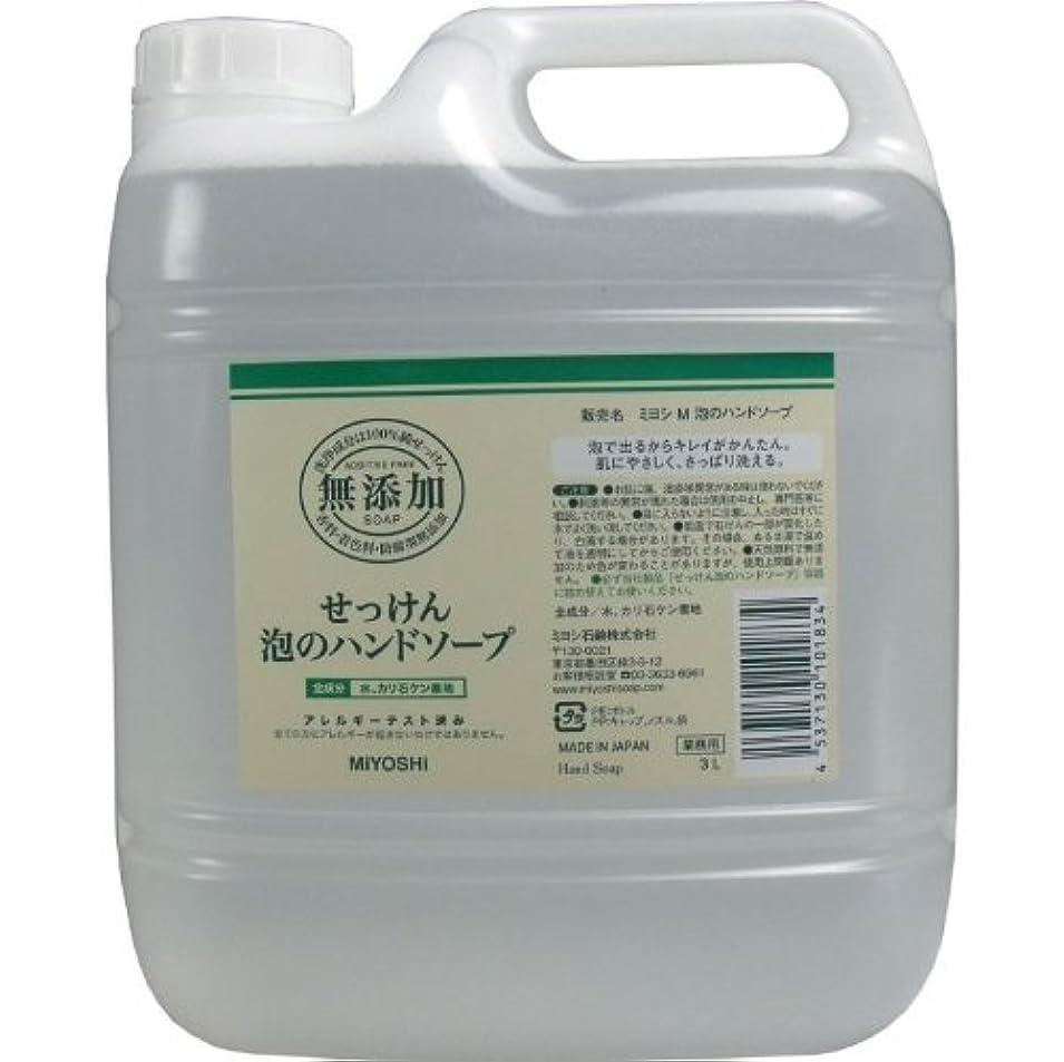 泡で出るからキレイが簡単!家事の間のサッと洗いも簡単!香料、着色料、防腐剤無添加!(業務用)3L【4個セット】
