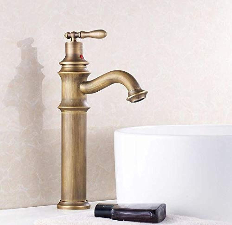 Wasserhahn Waschbecken Becken-Hahn-Plattform Angebrachter Goldendmischer, 360 Grad-Schwenker-Kaltes Heies Waschbecken-Taps