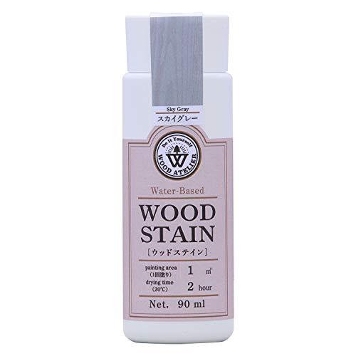 和信ペイント 水性着色剤 ウッドアトリエ ウッドステイン 90ml 800603 木目を生かした着色 WS-03 スカイグレー