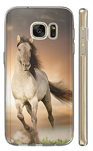 Samsung Galaxy S5 Mini G800 Hülle Softcase TPU Hülle für Samsung Galaxy S5 Mini Cover Backkover Schutzhülle Slim Hülle (1005 Pferd Braun Weiß Hengst)