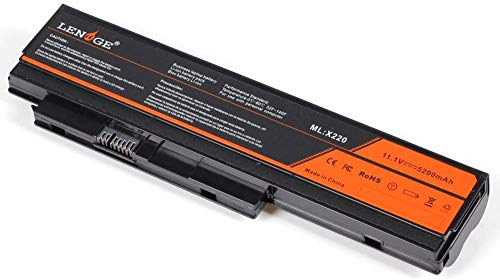 LENOGE X220 X220i X220s Laptop Battery for Lenovo ThinkPad Notebook, 11.1V 5200mAh Replacement Battery P/N 0A36281 0A36282 0A36283 42T4861 42T4862 42T4863 42T4865 42T4866 42T4876 42T4901 42T4902