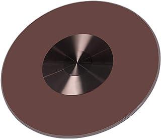 SUWEN Roulement à Bille Rotatif en Aluminum pour,Dessus de Table Ronde Verre Trempé 600 mm Plateau de Table Meuble