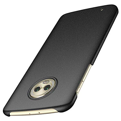for Motorola Moto G6 Case, ACMBO [Sand Gravel Series] Ultra Thin Slim Fit [Anti-Drop] Shockproof Hard Plastic Phone Cases Cover Compatible for Moto G (6th Generation) 5.7 Inch, Gravel Black