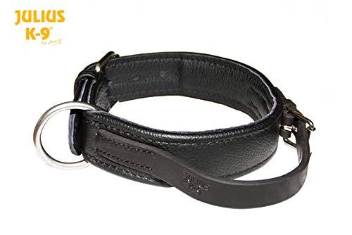 Julius-K9 40082-60 Öko Lederhalsband, mit Griff, 60 cm, handgenäht