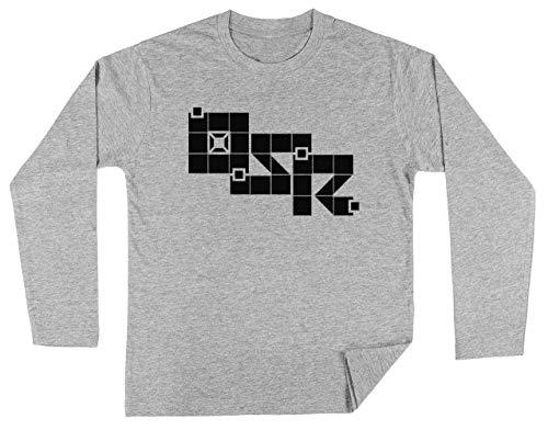 Oud School Rollenspel Unisex Kinder Jongens Meisjes Lange Mouwen T-shirt Grijs Unisex Kids Boys Girls's Long Sleeves T-Shirt Grey
