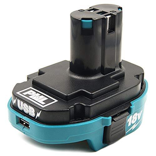 Milkvetch Adaptador para 18V BateríA de Iones de Litio para 18V NICad Nimh Adaptador Convertidor Cargador USB Adaptador AC