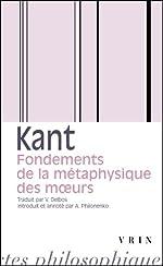 Fondements de la métaphysique des moeurs d'Emmanuel Kant