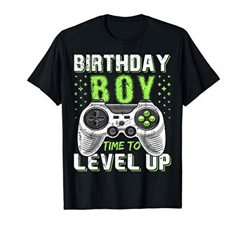 Birthday Boy Time to Level Up Video Game Birthday Gift Boys T-Shirt
