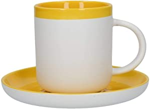 La Cafetière Barcelona Mustard Coffee Cup And Saucer, Card Sleeve
