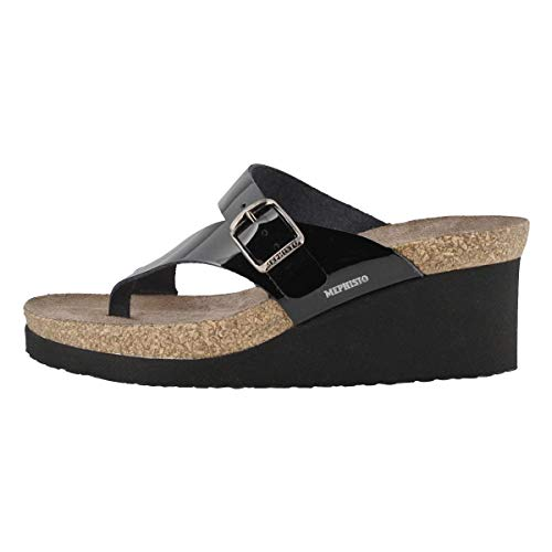 Mephisto Women's Natty Sandals Black 9 M US