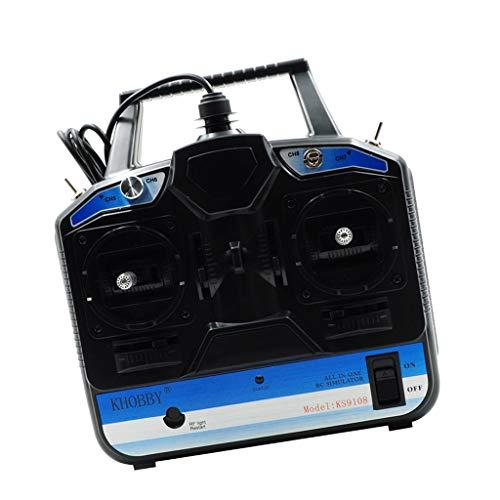 Hellery Simulador De Vuelo De Avión De Helicóptero RC 3D USB De 8 Canales + Disco, Compatible con Freerider