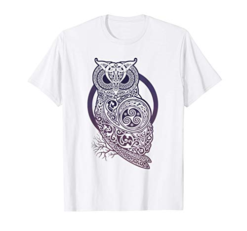 Vintage-Vikings celtic mythology mystical owl symbolism run T-Shirt