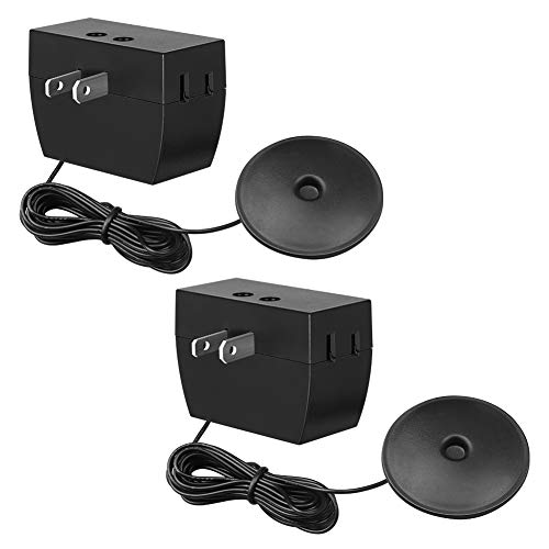 DEWENWILS 2 Pack Touch Dimmer Switch, Touch Pad Control with 3 Levels of Dimming, Dimmable LED/CFL Lights, Incandescent and Halogen Bulbs, 8 ft Extension Cord, ETL Listed, Black