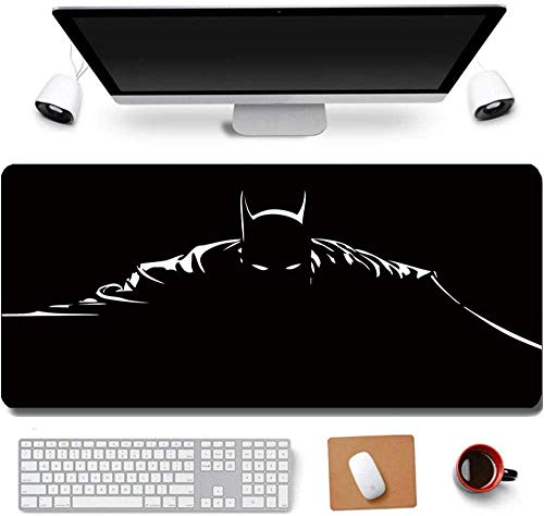 31.5x11.8 Inch Cool Bat Shadow Long Extended Large Gaming Mouse Pad with Stitched Edges XL Laptops Keyboard Mouse Mat Desk Pad